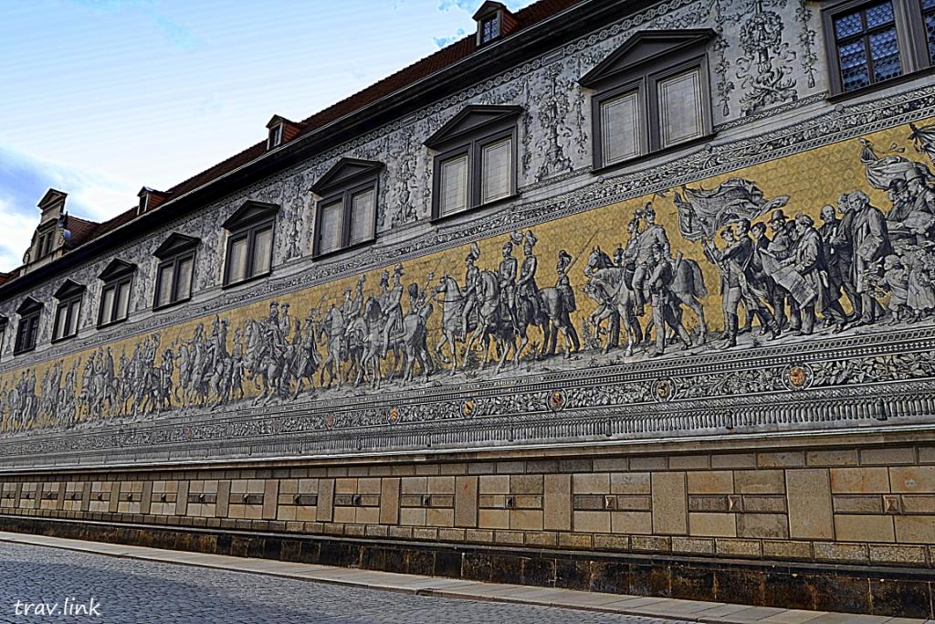 Шествие князей панно в Дрездене фото