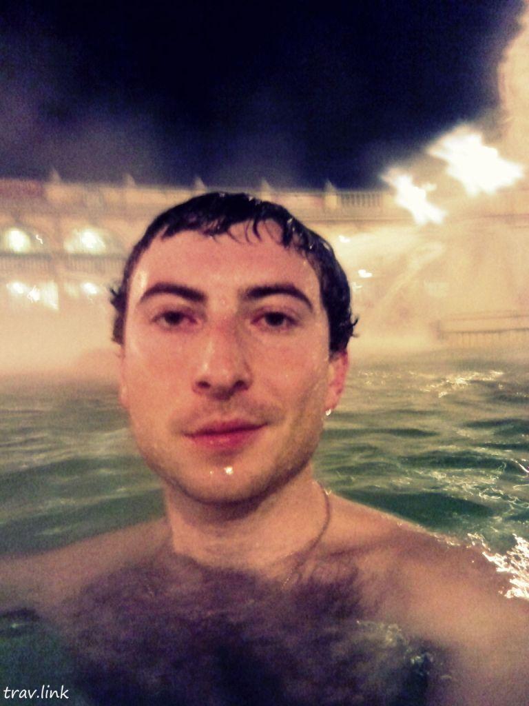 Русфет Кадыров в купальнях Сечени