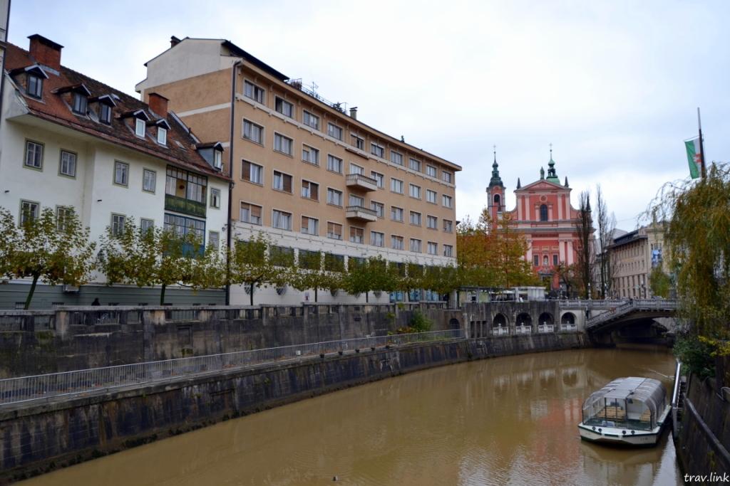 Любляница - река в столице Словении
