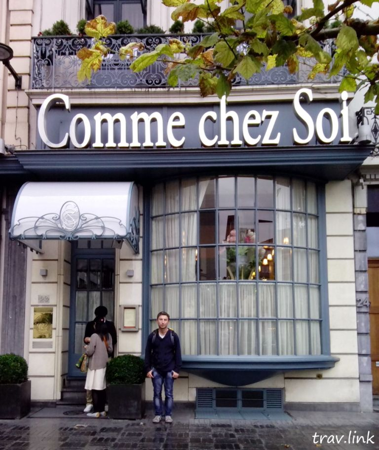 Русфет Кадыро в ресторане comme chez soi в Бельгии
