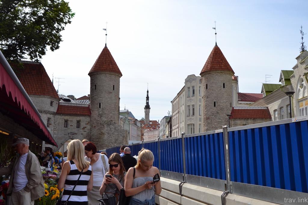 Таллин фото. Вируские ворота